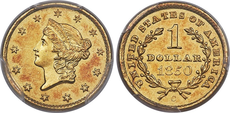 Variety 1 The 1850 C Has An Impressively Low Mintage Of Only 6 966 Coins And Is