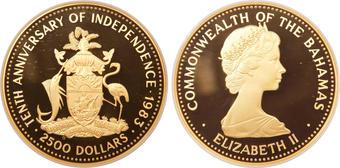 Bahamas 1987 Queen Isabella & Columbus $100 Gold Ngc Pf69 Ultra Cameo Special Buy Bahamas