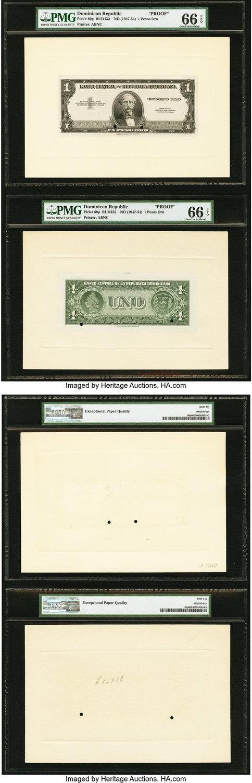 World Currency Dominican Republic Banco Central De La Republica Dominicana 1 Pesos Oro Nd 1947 54 Pick 60p Face And