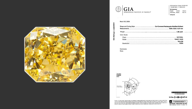 Numisbids 51 gallery february 2017 auction 10 february 2017 fancy vivid yellow radiant cut diamond 138 carat cornered rectangular modified brilliant cut diamond with a stunning nvjuhfo Gallery