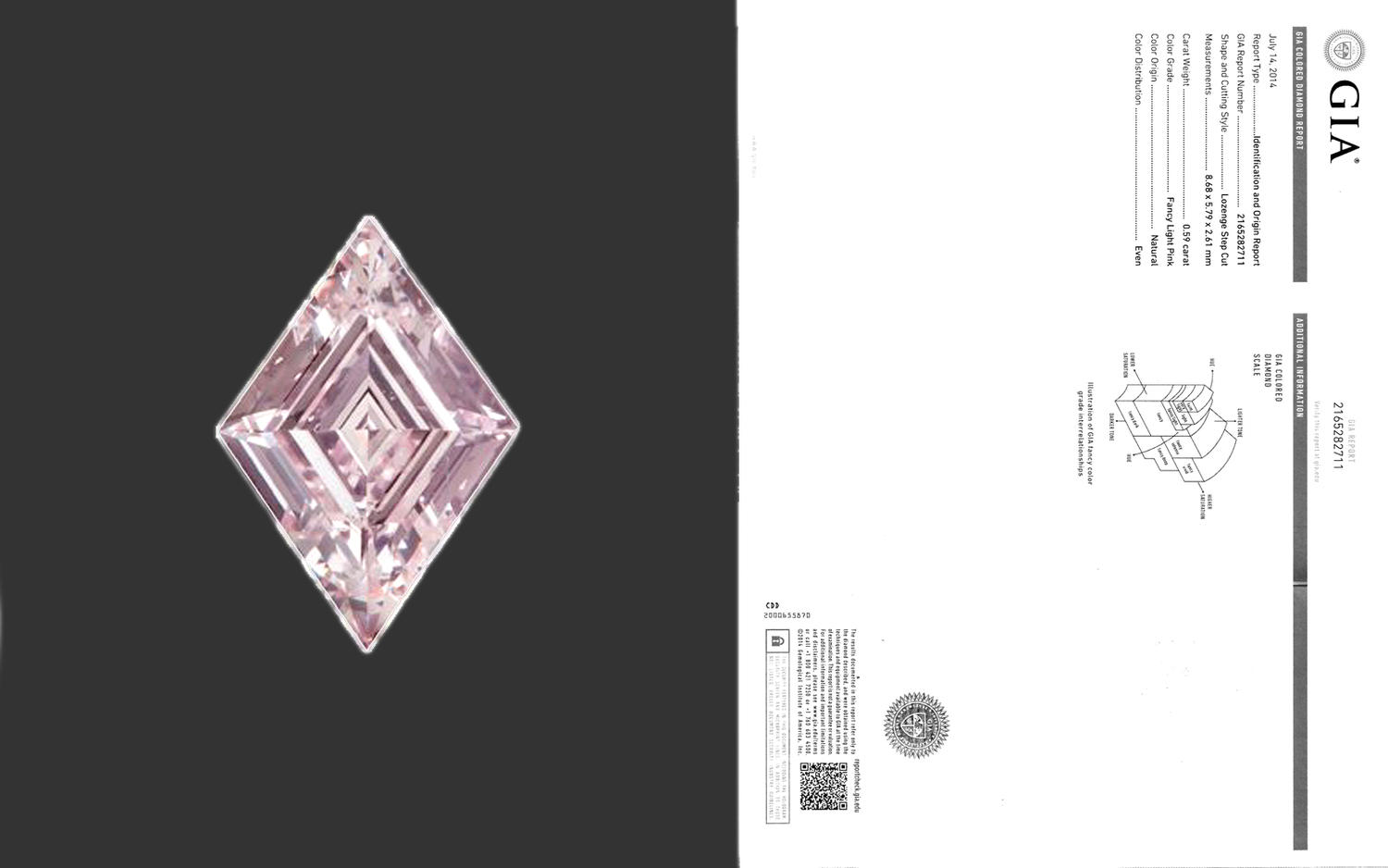 Numisbids 51 gallery february 2017 auction 10 february 2017 fancy light pink lozenge step cut diamond 059 carat extremely rare baby pink diamond with an exceptional and nvjuhfo Gallery