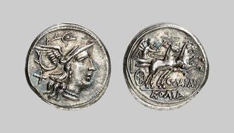 Republic To Empire Denarius, Julius Caesar Roman Coin Roman Empire 28-g