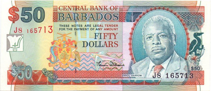 UNC $5 ND Barbados 2000 P-61