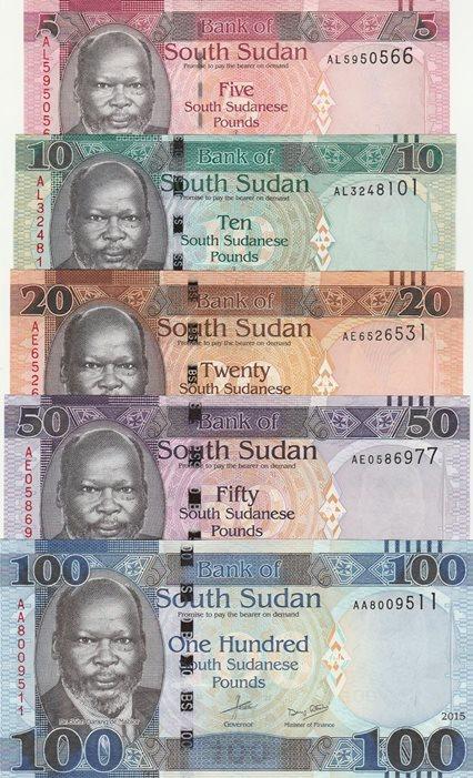 SOUTH SUDAN 5 POUNDS 2011 UNC P.6