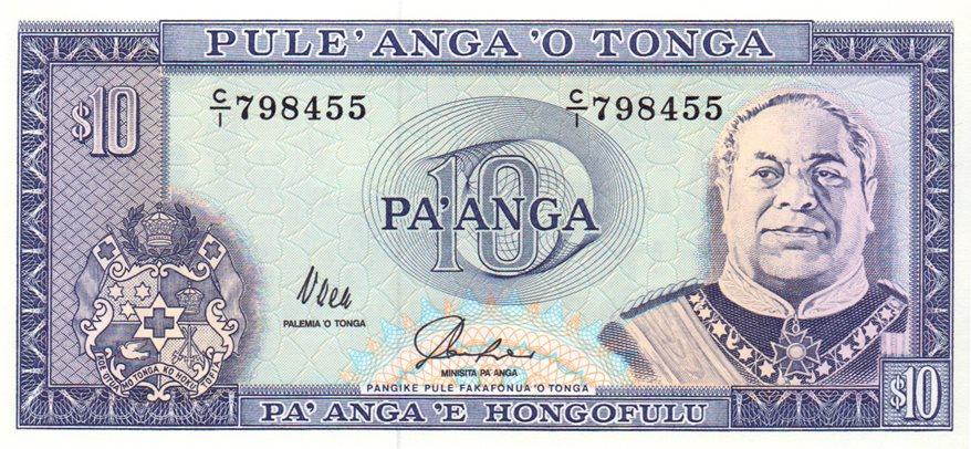 TONGA 1 PA/'ANGA ND 1992 P 25 UNC