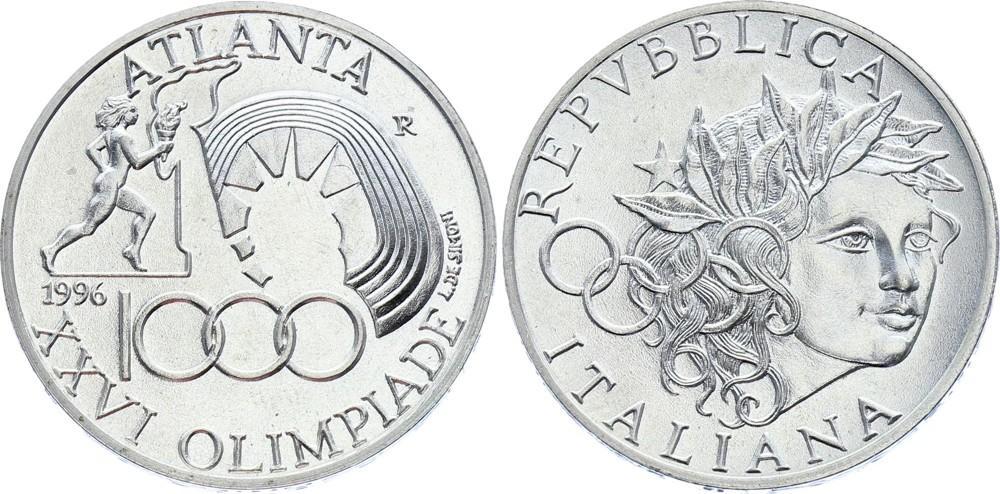 SILVER Commemorative Coin ITALIAN FLAG KM# 188 ITALY 10000 LIRE 1997 UNC