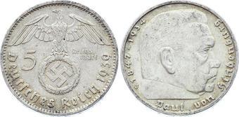 Set of Germany 8 coins 1 10 pfennig 2 Reichsmark Swastika- N13 5 2
