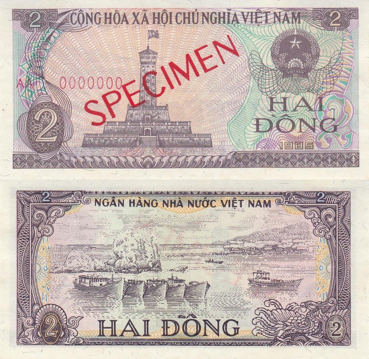 VIETNAM 20 DONG 1985 P 94 SPECIMEN AU-UNC
