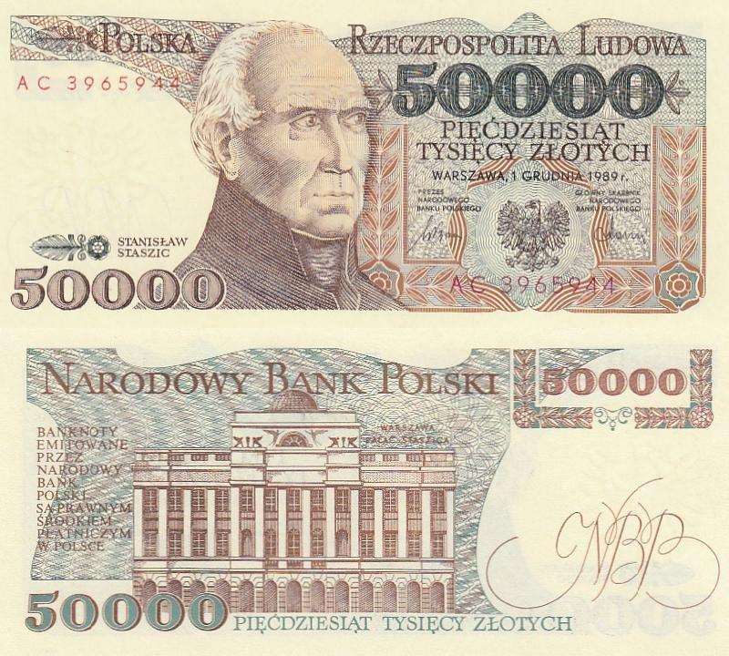 500,000 P-156 1990 UNC Poland 500000 Zlotych