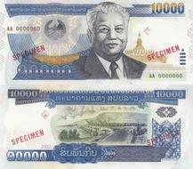 Lot 5 PCS 2011 P-41 UNC Laos 2000 2,000 Kip