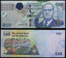 Papiergeld Welt New Reasonable Bahamas 10 Dollars 2016 Unc P Karibik