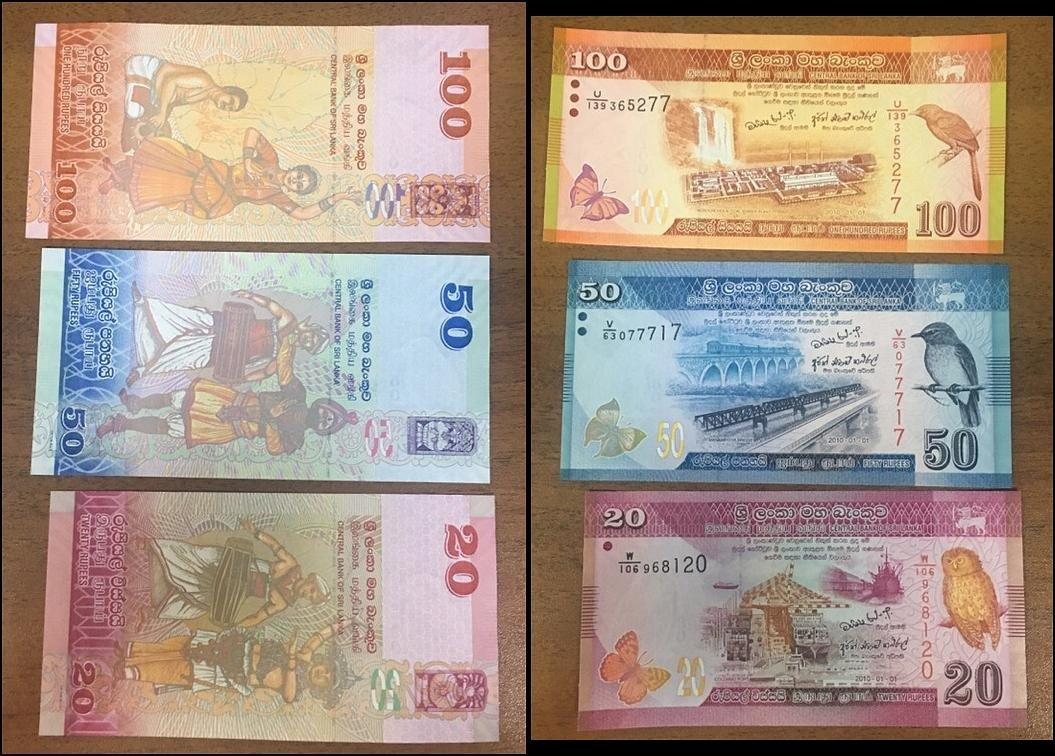 P-118d Sri Lanka 100 Rupees UNC 2006 Lot 5 PCS