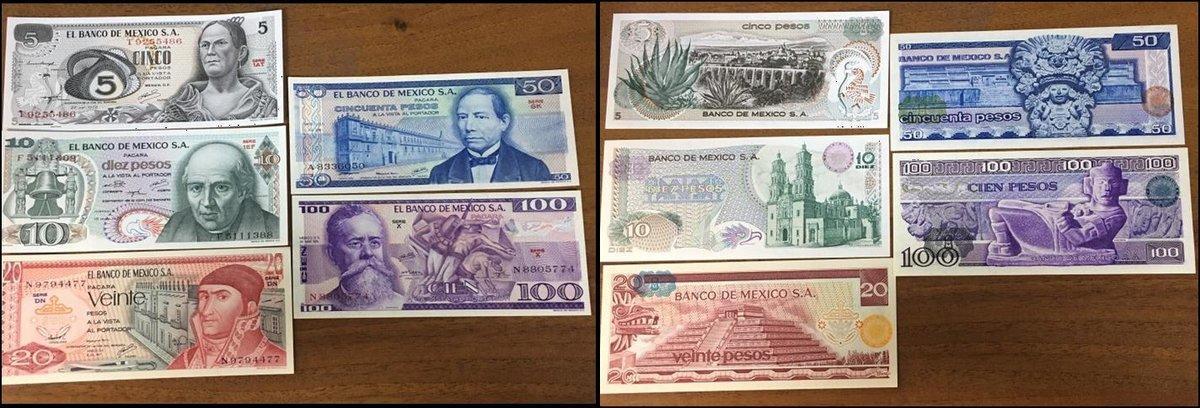 P-85 Serie xf Mexico 1000 Pesos 5 Pcs LOT 1985 UNC- Consecutive
