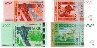 2003 UNC P 115A WEST AFRICAN STATES IVORY COAST 1000 1,000 FRANCS 2016