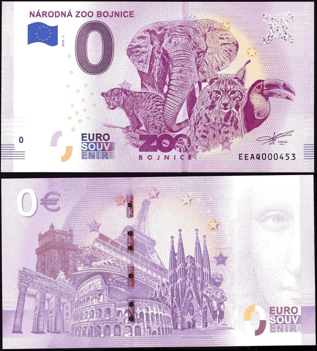 NEW 0 Euro Souvenir Banknote 2019-1 LEVOCA SLOVAKIA SLOWAKEI series EECC