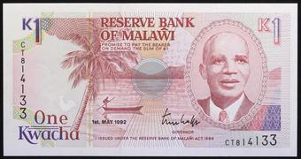 Malawi 50 Kwacha 2016 Unc 20 Pcs Consecutive Lot P 64
