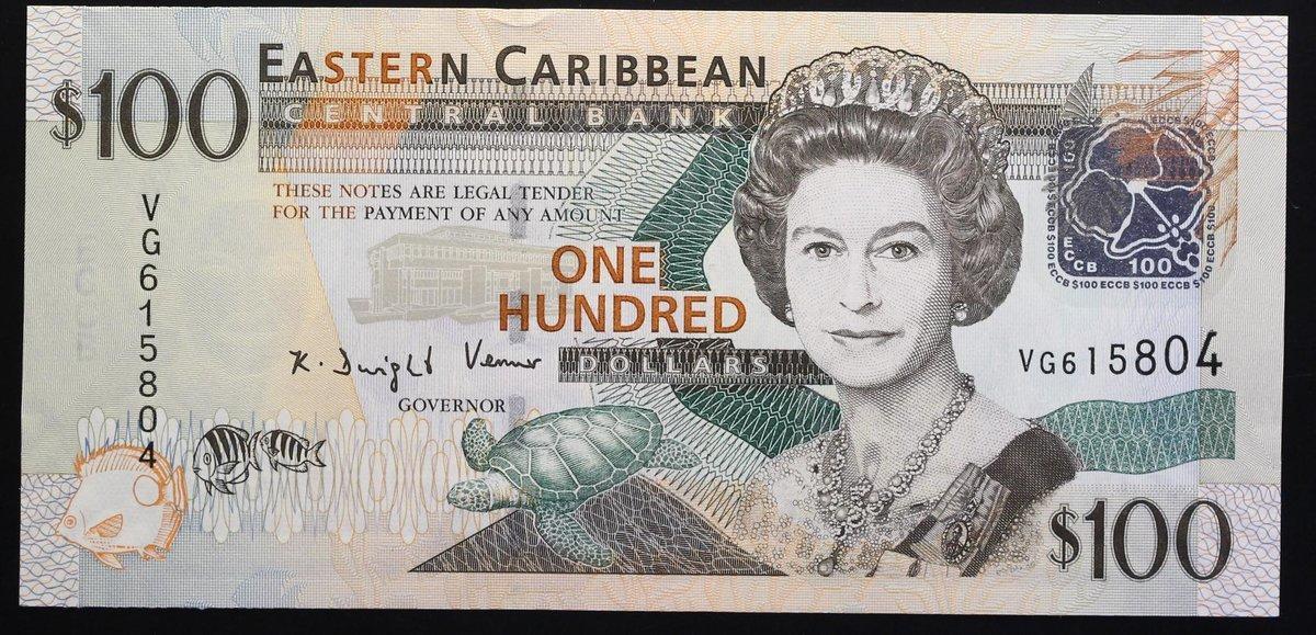 UNC East Caribbean 10 Dollars,ND 2016 P-52