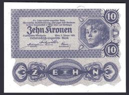 Austria  100 Kronen 1922 10 pcs L21 Lot