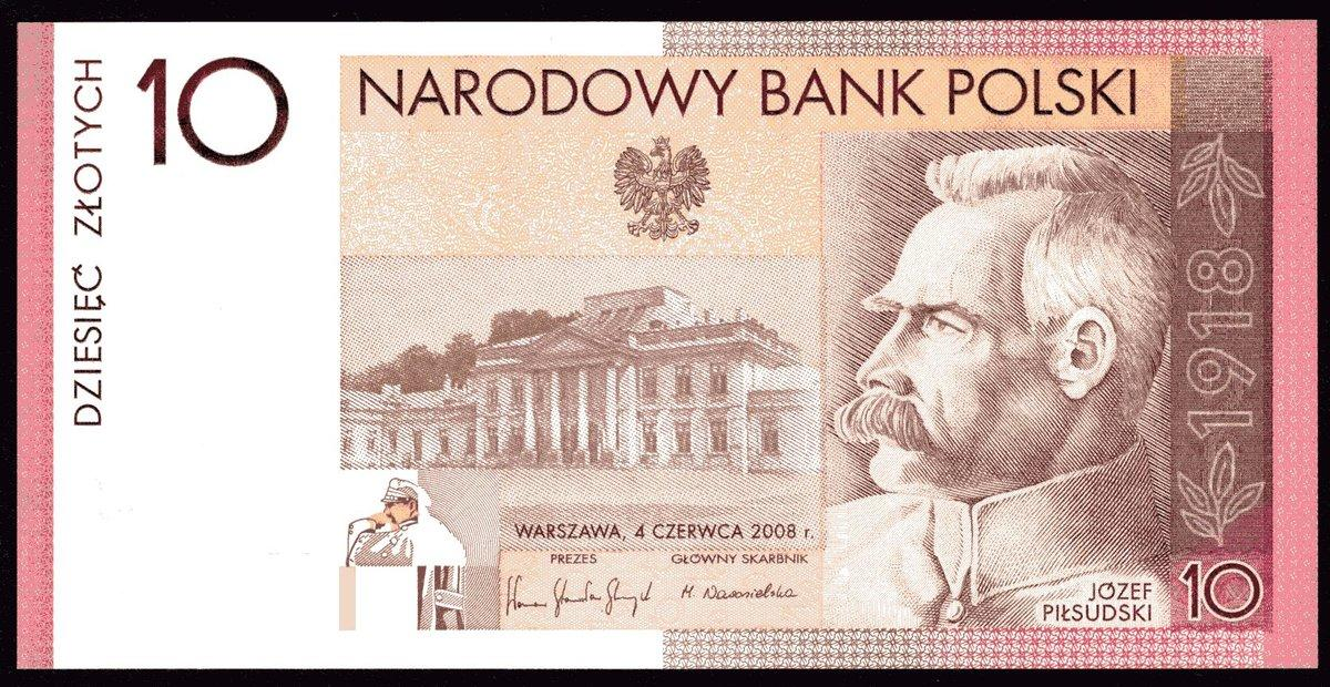 P-179 2008 Poland 10 Zlotych 90th Commemorative of Independence,UNC In Folder