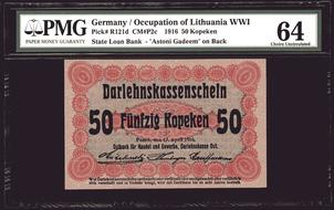 5 Mark 1917 Germany P-56 UNC