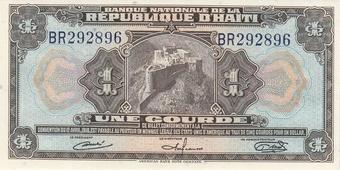 Haiti 2001 Series /'A/' Commemorative Note UNC 20 Gourdes