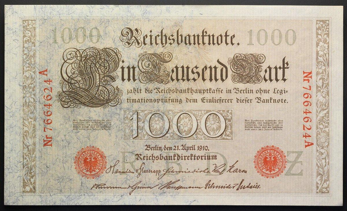 GERMANY 2 MARK 1914 RED SEAL P 54 UNC