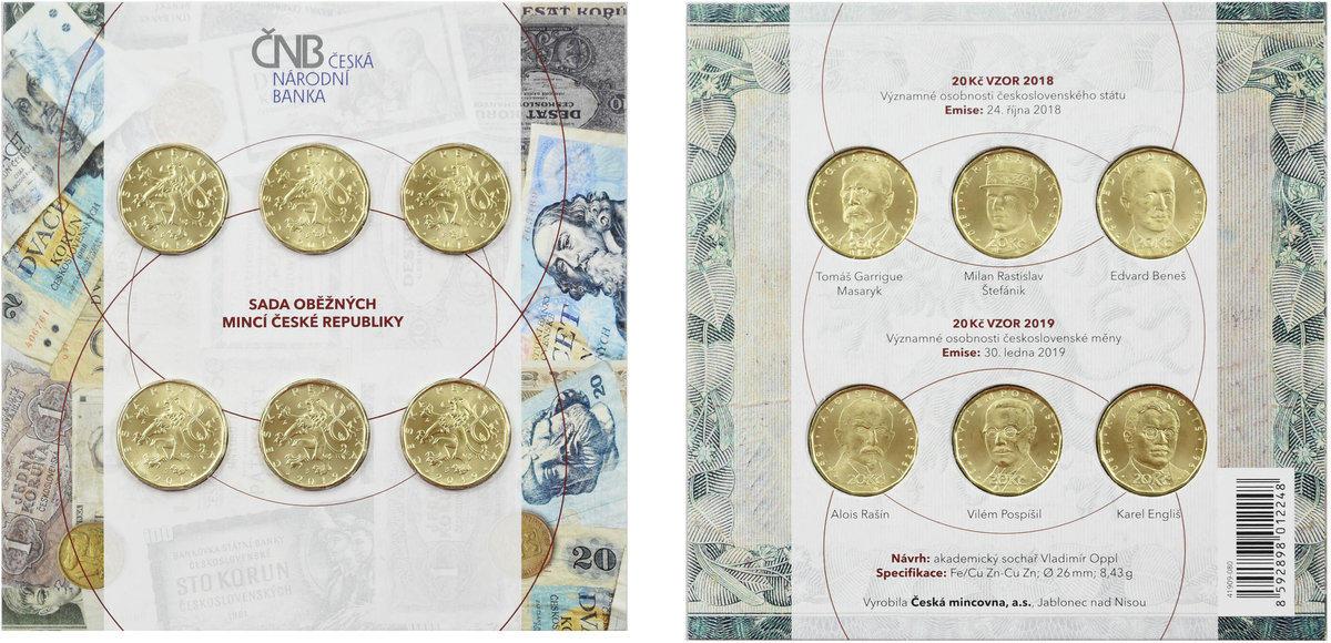 20 Korun Crown 2019 Czech republic UNC KC COMMEMORATIVE RARE COINS 3 Coins