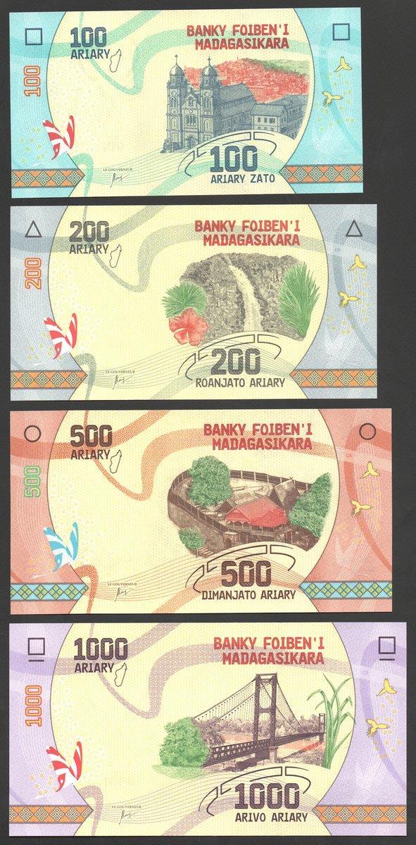 MADAGASCAR 5000 5,000 ARIARY ND 2009 UNC CONSECUTIVE 5 PCS LOT P.91b S 6