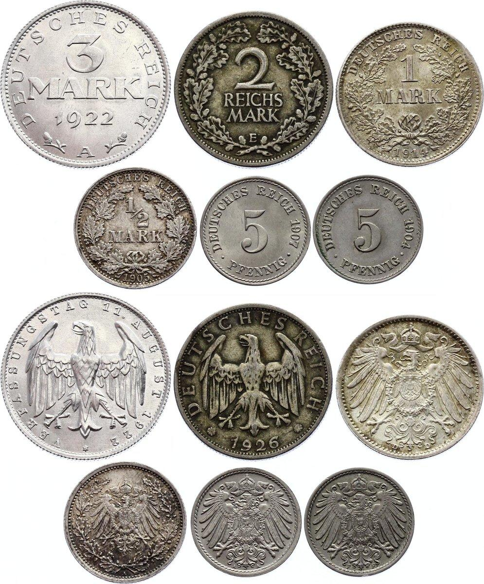 1905 Silver Birth year set 5 coins other years also