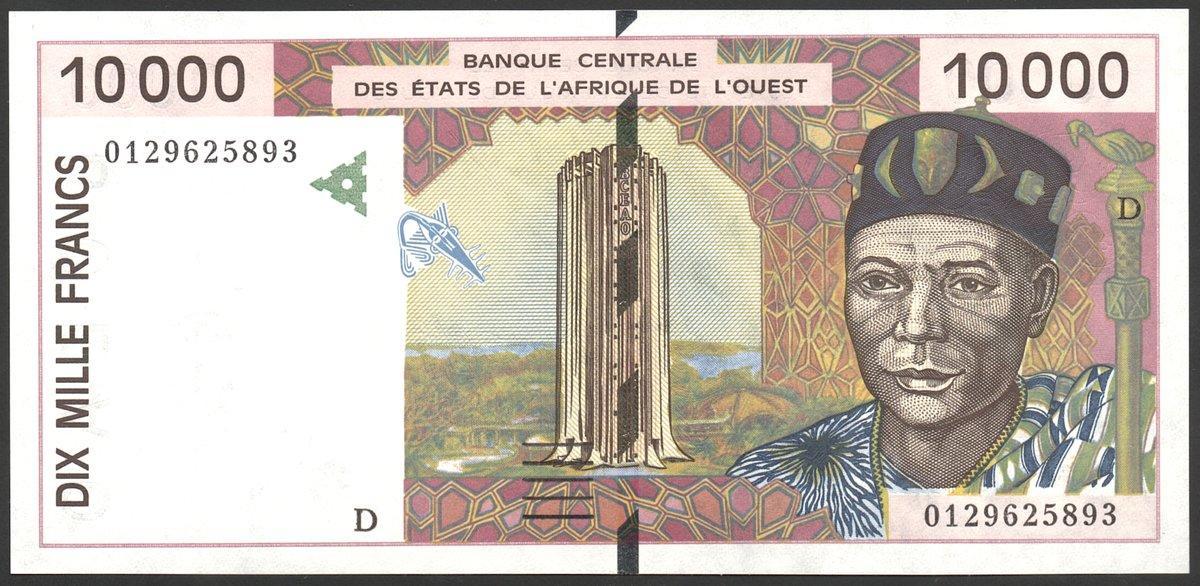 P 316 C UNC 2004 WEST AFRICAN STATES BURKINA FASO 2000 2,000 FRANCS 2003