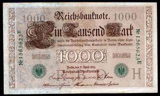 1910 UNC Mark 44b Pick 44 1,000 aUNC 1000 Germany