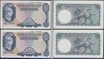 FALKLAND  5  POUNDS   2005 Prefix B  P 17  Uncirculated Banknotes
