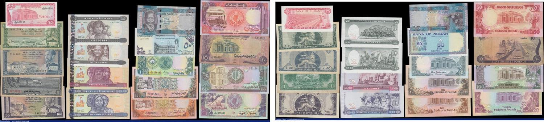 SUDAN 1 2 5 10 20 50 POUNDS 2006 P-64 65 66 67 68 69 VF crisp SET