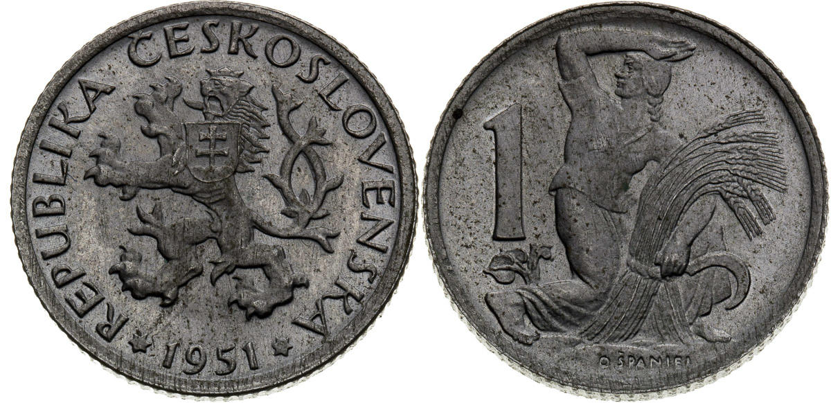 Kronen 2000 only circulating commemorative coins Czech Republic 20 /& 10 Korun