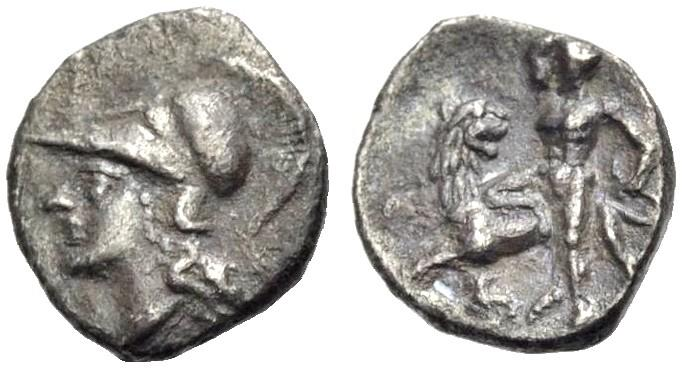 Coins & Paper Money Silver-diobol Of Lampsakos In Mysia Rv Helmeted Head Of Athena Left
