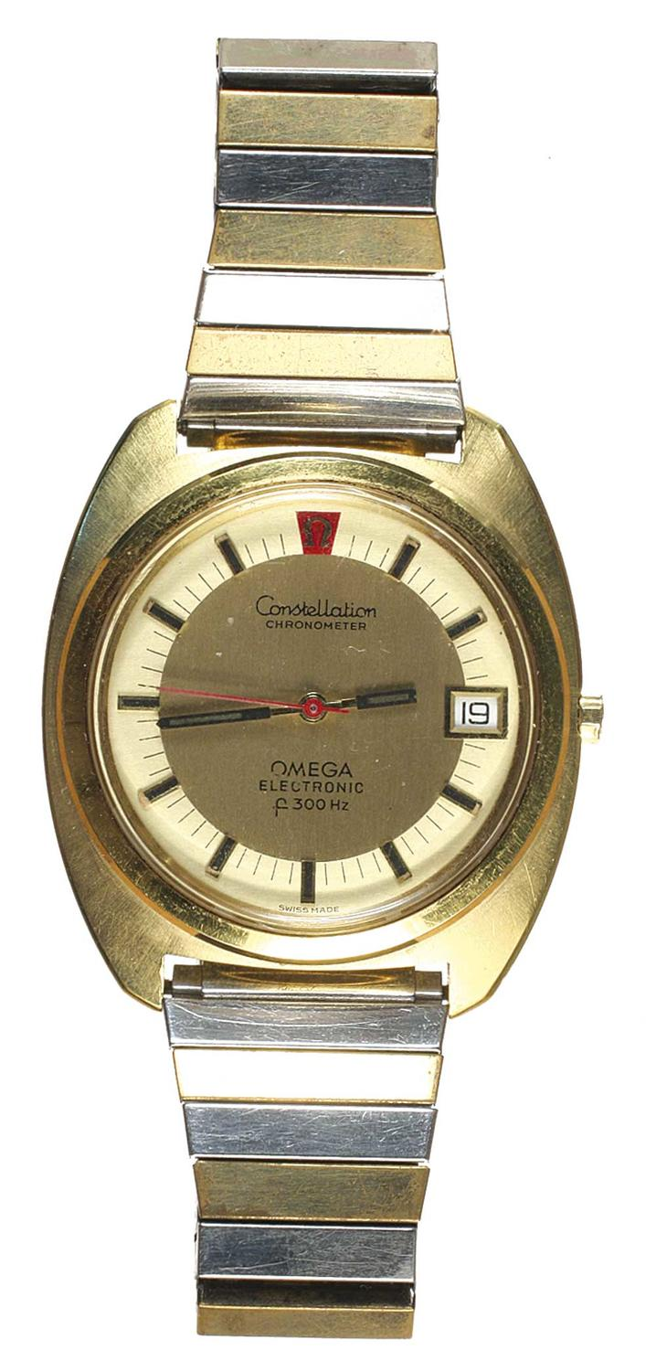 Numisbids Noble Numismatics Pty Ltd Auction 114 28 31 March 2017 Natural 100 Top Imperial Topaz 1427 Gents Wristwatch Omega Constellation Electronic F300hz C1970s Case With Rolled Gold And Stainless Steel Back