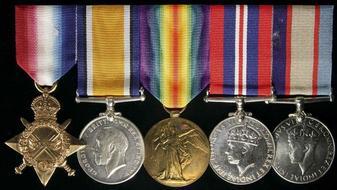 0218f5d3767 GROUP OF FIVE  1914-15 Star  British War Medal 1914-18  Victory Medal  1914-19  War Medal 1939-45  Australia Service.