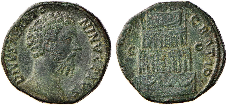 6318f03774 NumisBids: Nomisma Spa Auction 52, Lot 97 : Marco Aurelio (160-180) Sesterzio  di consacrazione – Testa a d. –.