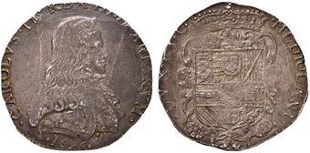 bb7662b155 MILANO Carlo II (1676-1700) Filippo 1676 - MIR 387 AG (g 27,86) Piccole  screpolature ma bell'esemplare SPL