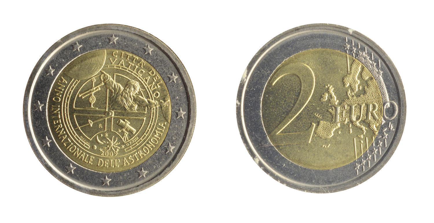 International Year of Astronomy 2 Euro Vatican City 2009 Coin Card