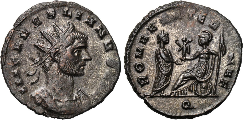 NumisBids: Pecunem Online Auctions Auction 5, Lot 333 : AURELIAN (270-275).  Antoninianus. Milan. Obv: IMP AVRELIANVS AVG. ...