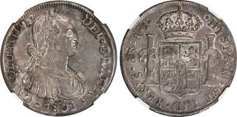 1795 Mo FM Mexico Silver 8 Reales Nice Details Calico-689 Sharp America/'s Dollar