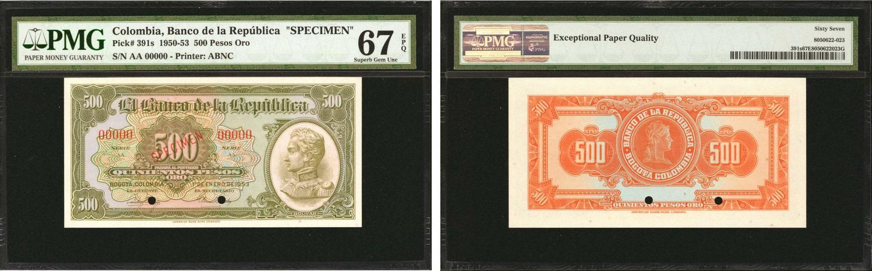 COLOMBIA 1 PESO ORO 1970 UNC P-404e