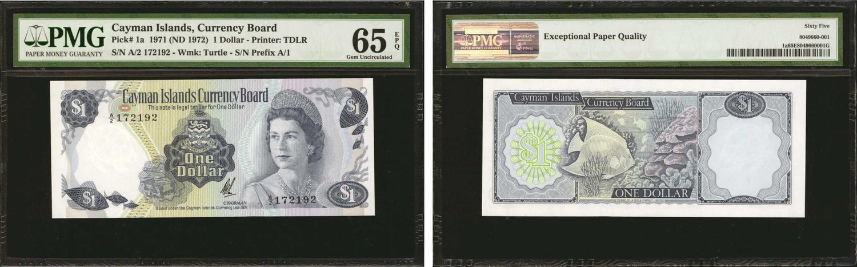 Brilliant Bahamas 1 Dollar 1968 Pick 27a Karibik 3 Münzen
