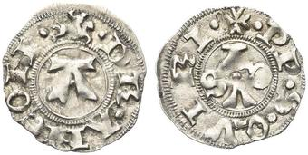 023e3055d5 MONETE ITALIANE REGIONALI ANCONA. Repubblica autonoma, sec. XIII-XIV.  Bolognino. Ar gr. 0,97 Dr. Cavaliere a.