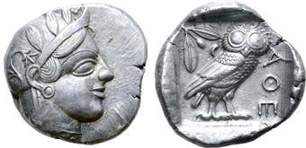 Attica Athens Ar Tetradrachm After 449 Bc