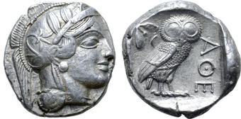 Attica After 449 Bc. Athens Ar Tetradrachm