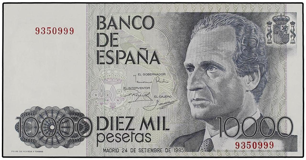 Fotos de billetes de 10000 pesetas 5