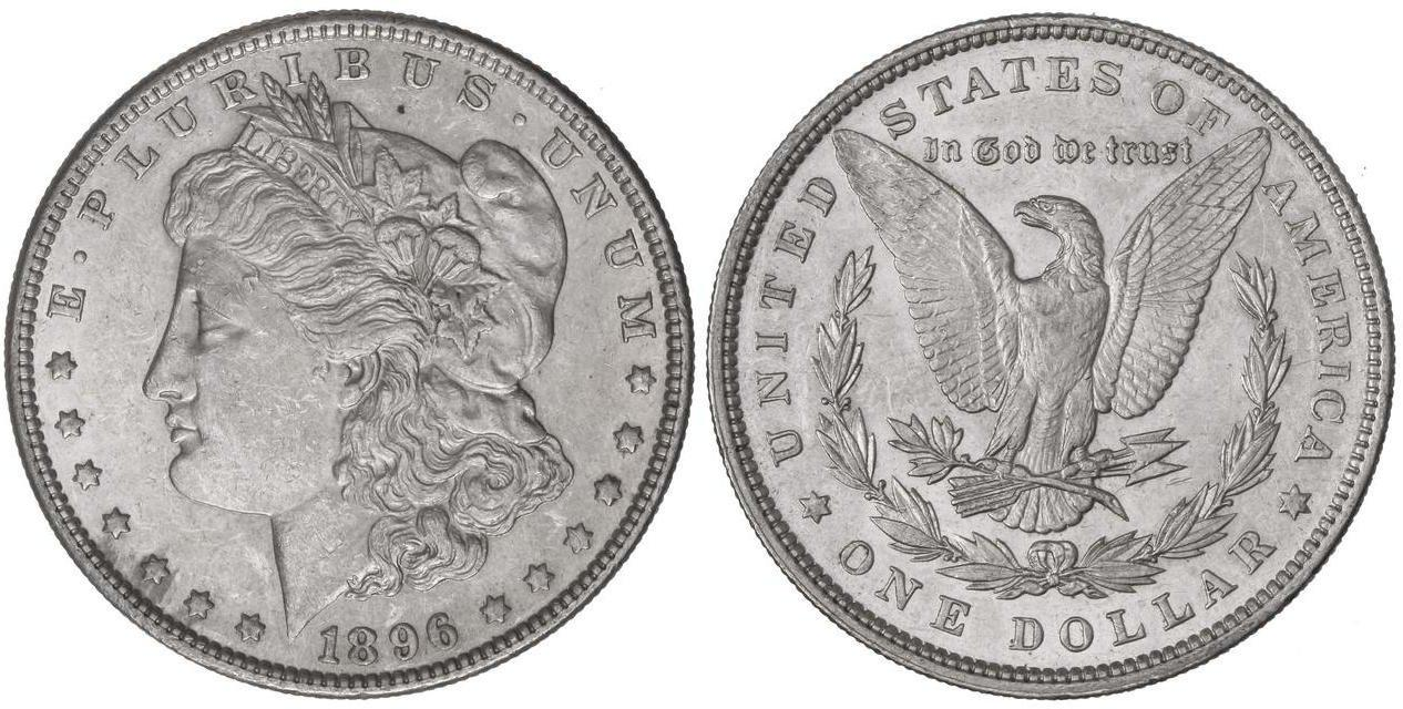 Numisbids Soler Y Llach S A Auction 1105 Mail Bid Lot 4561 1 Dólar 1896 26 77 Grs Ar Leves Golpecitos Km 110 Ebc