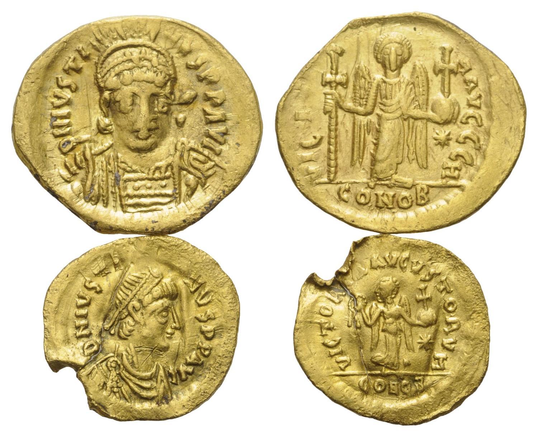 Byzantinische Münze Lot 2 Stück Münzen Byzantinische Münzen